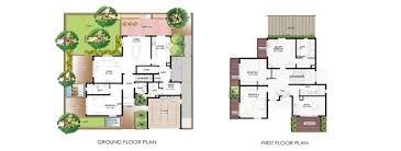 villa home plans 4 bedroom villa floor plans home plans ideas