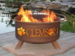 backyard beach themed fire pit patina college fire pit clemson fire pit f222 sports fan
