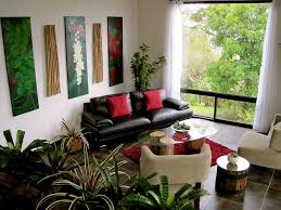 Decorations  Excellent Small Living Room Decor With Black Leather - Living room decor with black leather sofa