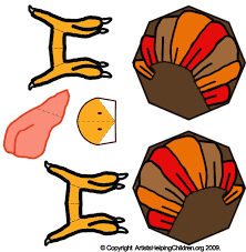 free thanksgiving turkey paper toys model make printable