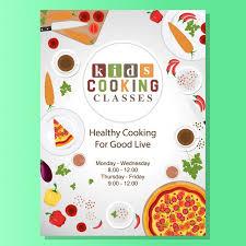 affiche atelier cuisine cours de cuisine conception de l affiche télécharger des vecteurs