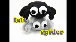 felt craft tutorial halloween spider youtube