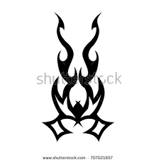 tribal designs sketched simple stock vector 709211107