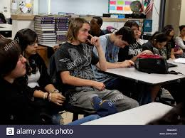 high school class history ethnically mixed students in world history class at manor new tech