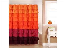 bathroom gypsy ruffle curtains for beautiful bathroom decoration