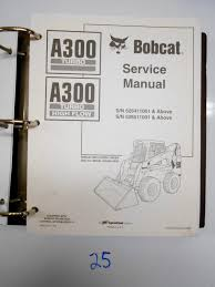 bobcat a300 turbo high flow skid steer loader service repair