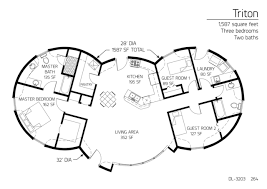 three bedroom floor plans floor plans 3 bedrooms monolithic dome institute