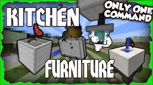 kitchen furniture minecraft 1 11 2 one command block youtube