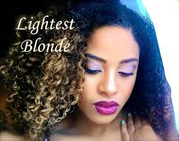 pictures of blonde highlights on natural hair n african american women how to dye kinky curly virgin hair blonde 1 month update youtube