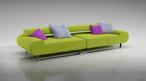 Green Sofa Bed Lime Green Sofa With Pillows 3d Model Cgtrader