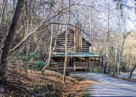 cabin by the creek conveniently located in sky harbor between gatlinburg and pigeon forge tennessee cabin by the creek is a 2 story 3 bedroom classic log cabin with the