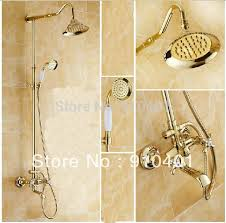 Brass Shower Faucets Wholesale And Retail Promotion Luxury Golden Brass Shower Faucet