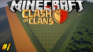 clash of clans in minecraft making of 1 landscape youtube
