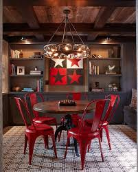 Casters For Dining Room Chairs Be Confident With Color U2013 How To Integrate Red Chairs In The