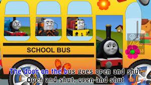 thomas train nursery rhyme wheels bus song cartoon
