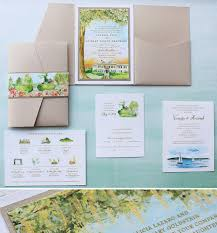 watercolor venue illustration wedding invitation momental