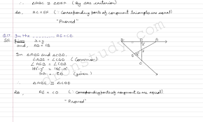 class 9 class x cbse r s aggarwal solutions congruence of