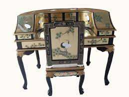 Chinoiserie Secretary Desk by Gold Leaf Desk W Chair Oriental Chinese Furniture Amazon Co Uk