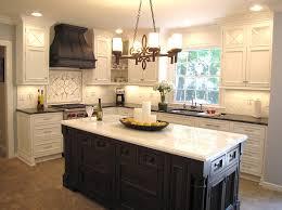 interior chandelier unique kitchen island lighting above white