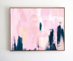 Livingroom Art Printable Abstract Art Navy Blue And Pink Art Instant Download