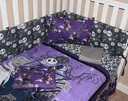 nightmare before crib bedding etsy