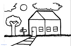 house drawings house drawing simple house landscape speed drawing
