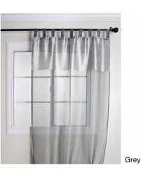 42 Inch Shower Curtain Great Deal On Saro Silk Sheer Tab Top 84 Inch Curtain Panel 42 X
