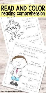 free printable kindergartening comprehension worksheets for 4th