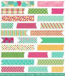 washi tape designs washi tape clipart vectors illustrations creative market