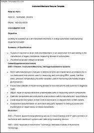 Auto Mechanic Resume Examples by Instrument Technician Resume Examples Free Resume Example And