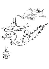 oggy dee dee jack coloring pages hellokids