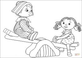 andy pandy looby loo coloring free printable coloring pages