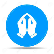 praying icon vector illustration flat design style royalty