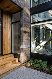 attractive modern home design in canada featuring interior glass