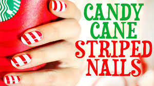 candy cane striped nails tutorial youtube