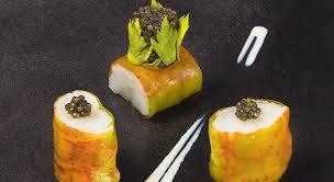 caviar recettes cuisine recette langoustine royales et caviar à la crème de yuzu