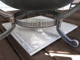 Firepit Pad Pit Mat And Rack Combo
