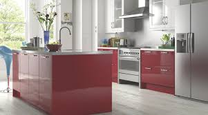 high gloss red kitchen contemporary kitchen hampshire by b u0026q
