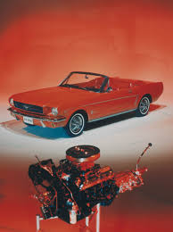 1964 ford mustang convertible with engine