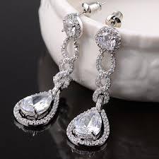 vintage wedding jewelry vintage bridal earrings silver dangle wedding