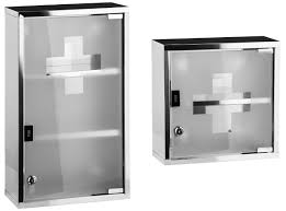 stainless steel glass door wall mounted medicine cabinet stainless steel lockable glass door