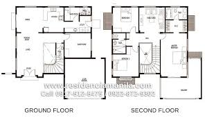 floor plan for two storey house in the philippines homes zone
