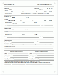 preschool registration form template teaching ideas pinterest