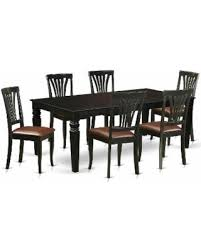 6 pc dinette kitchen dining room set table w 4 wood chair winter shopping special lgav blk lc 5 pc dinette set with a
