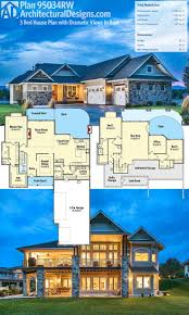 Hillside House Plans For Sloping Lots Modern House Plans For Sloped Lots 2 Bedroom Ranch Floor Plans