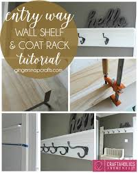 craftaholics anonymous diy shelf and coat rack