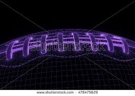 corporate design dã sseldorf football hologram wireframe style 3d stock illustration