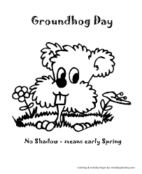 groundhog coloring pages shadow means early spring