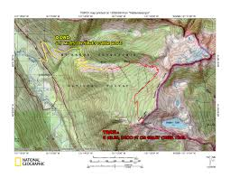 Sierra High Route Map by Route Overlays Www Stephabegg Com