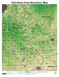 Wisconsin Winery Map by Upper Mississippi River Valley Ava